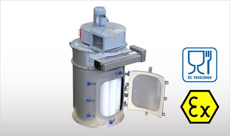 WAMFLO Food - Flanged Round Food-Grade Dust Collectors